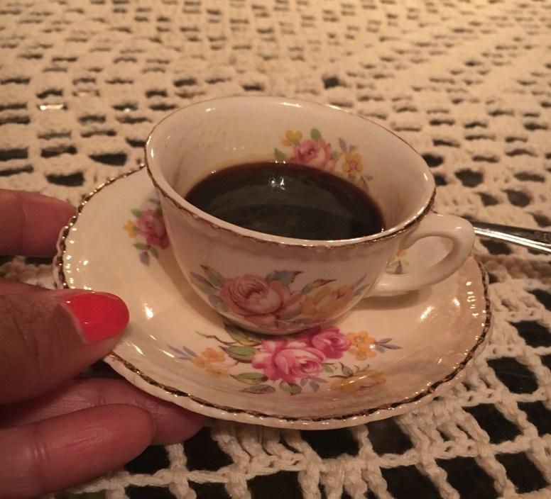 A lovely Cuban Coffee at Atelier, Havana.