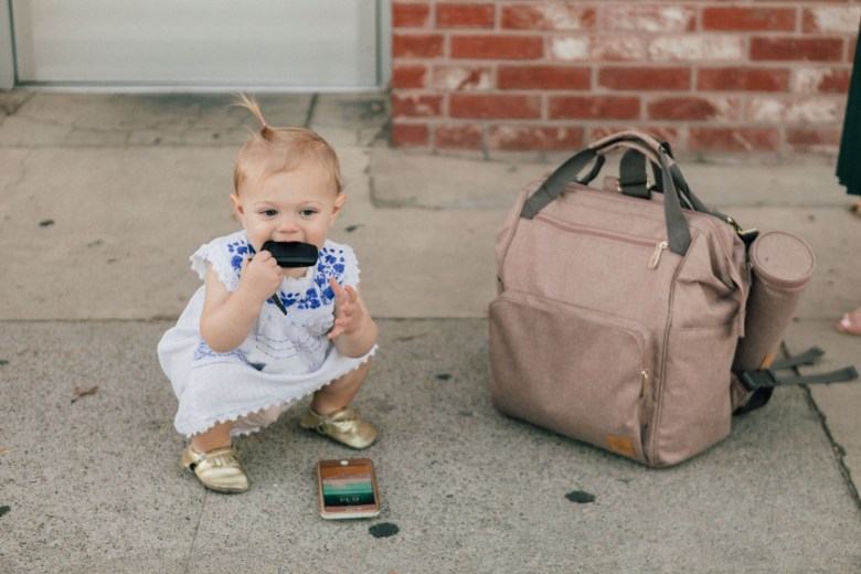 Blogger features Lassig diaper bag