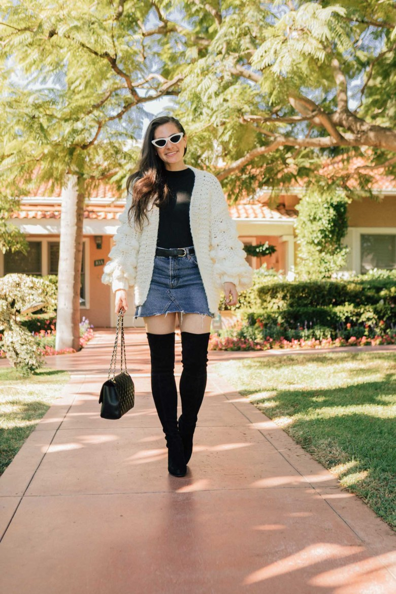 Los Angeles blogger, RELish By Arielle, wear black OTK boots