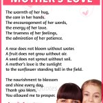 A Sweet Mothers Day Poem Mother S Love Relishquotes