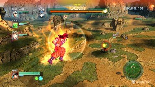 Goku se prepara para una de sus técnicas.
