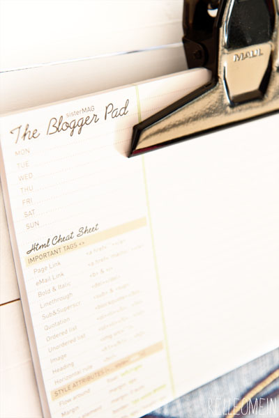 The Blogger Pad Sister Mag   relleoMein