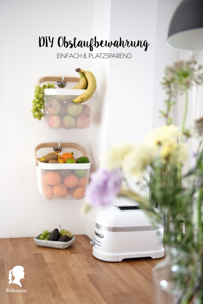 Bananen im Kühlschrank - Obst richtig lagern - DIY Obstaufbewahrung | relleomein.de #ikea #diy #aufbewahrung