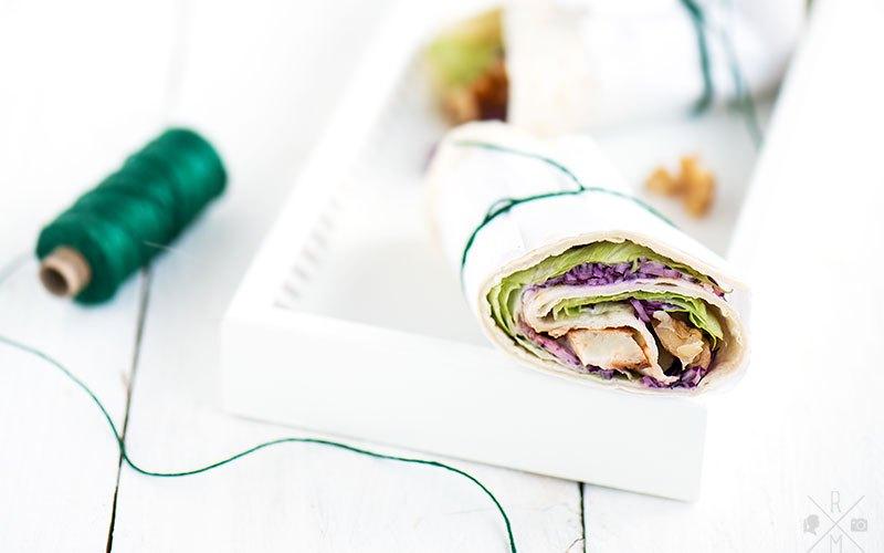 Tortillas mit Halloumi und selbst gemachtem Krautsalat - vegetarisches Abendessen | relleomein.de