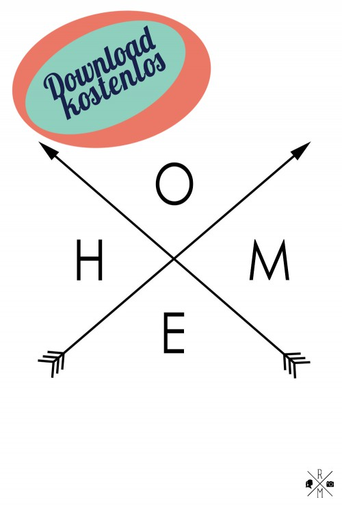 """Home"" free printable freebie kostenloser Download 