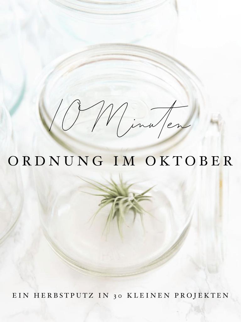 10 Minuten Ordnung im Oktober - 30 kleine Ordnungsprojekte für ein ordentliches Zuhause | relleomein.de #ordnungschallenge #aufräumen #marikondo