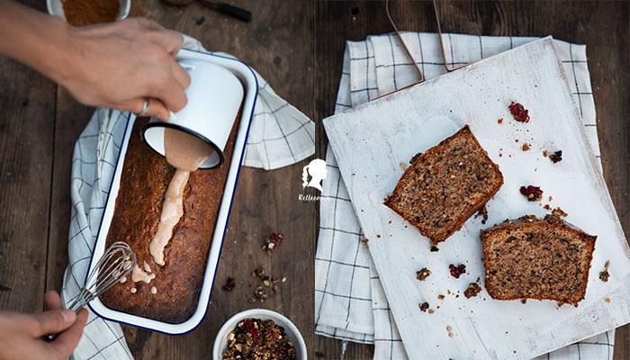Nusskuchen mit Schokostückchen - perfekt um offene Nüsse zu verwerten   relleomein.de