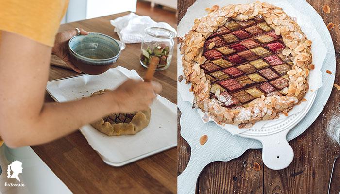 Rhabarberkuchen - Rhabarber Galette - Tipps zum Anbau von Rhabarber | relleomein.de #rhabarber #rhubarb #foodblogger #baking