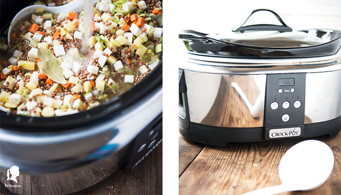 Slow Cooker Rezept - Vegetarische Linsensuppe - Meal Prep | relleomein.de