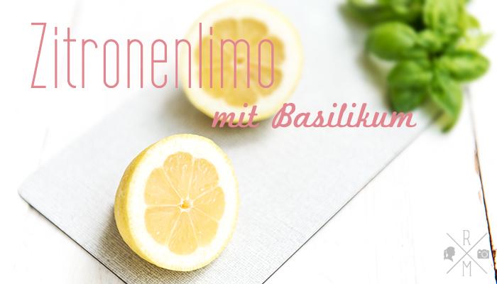 Zitronenlimonade mit Basilikum | relleomein.de #rezept #limonade