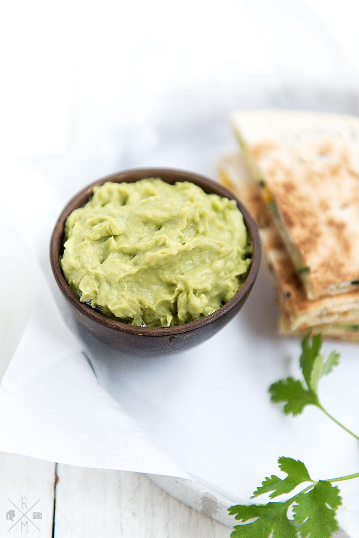 Guacamole als Dipp zu Quesadillas | relleomein.de #veggy #guacamole