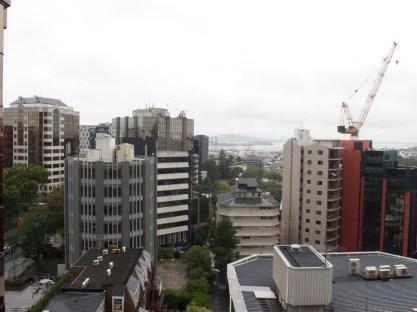 Auckland - Blick von meinem Balkon auf den Hafen