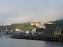 Oriental Bay in Wolken