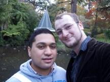 Henry und ich in den Botanic Gardens