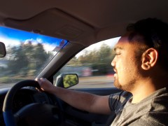... on my last way to Auckland with Andrew