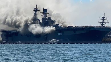 Photo of (VIDEO) Buque de la Armada de EEUU arde en base de San Diego después de una explosión