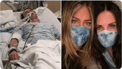 "Photo of ""Esto es covid. Esto es real"": Jennifer Aniston comparte la foto de un amigo hospitalizado"