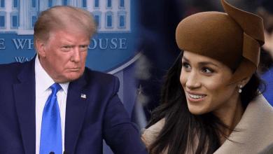 """Photo of Trump dice que no es """"muy fan"""" de Meghan Markle"""