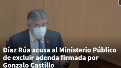 Photo of Díaz Rúa acusa al Ministerio Público de excluir adenda firmada por Gonzalo Castillo