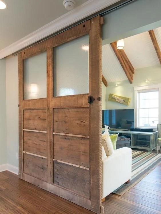 les portes coulissantes en bois