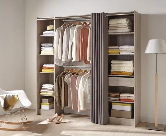 dressing avec rideau relooker meubles