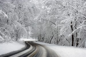 Winter, road, snow