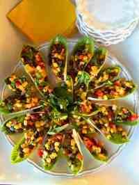 Black Bean Salad Stuffed Endive Appetizer - Reluctant ...