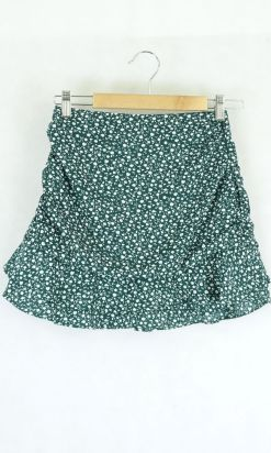 Glassons Green Floral Skirt 8