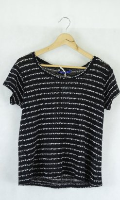 Drmx Jeans Black And White Knit Top M