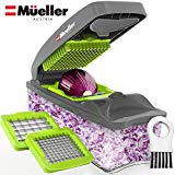 Mueller Onion Chopper Vegetable Chopper Pro - The Strongest - MÁS LÁGRIMAS 30% más pesado Chopper-Fruit-Cheese-Cebolla-Dicer-Cortador de cocina
