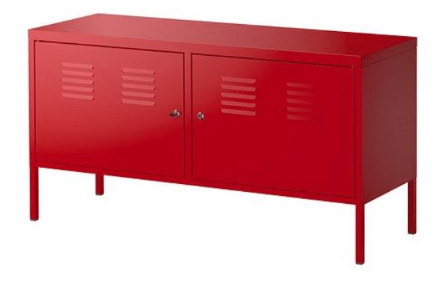 Ikea soporte de gabinete con cerradura multipropósito rojo