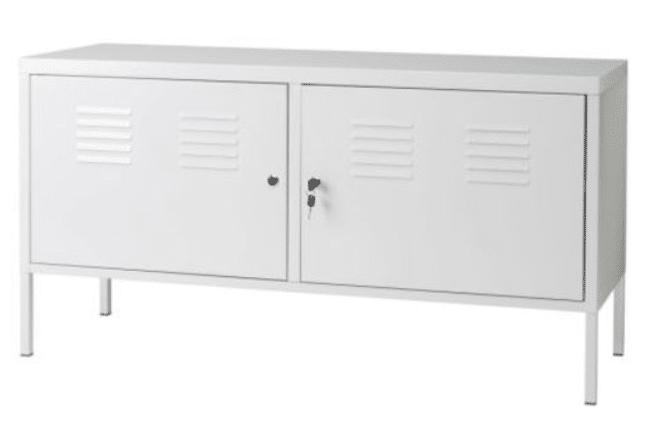 Ikea White Cabinet Tv Stand Multiuso Cerrable