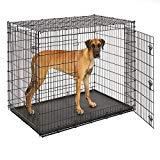 MidWest Homes for Pets XXL - Estuche para perro gigante | Jaula para perros descomunal con doble puerta, 54 pulgadas de largo, ideal para un danés, un mastín, San Bernardo y otras razas de perros XXL