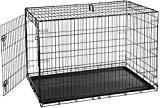 Caja de jaula plegable de metal de una puerta para perros o cachorros AmazonBasics - 48 x 30 x 32.5 pulgadas