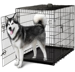"""Caja plegable de metal para perros plegada de 48 pulg. - 48 """"x 29"""" x 32 """""""