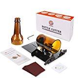 Cortador de botellas de vidrio Genround, cortadora de vino de bricolaje, cerveza, whisky, alcohol, licor de champán, botellas redondas con vasos artesanales, negro