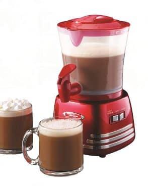 Chocolate caliente, espumador de leche
