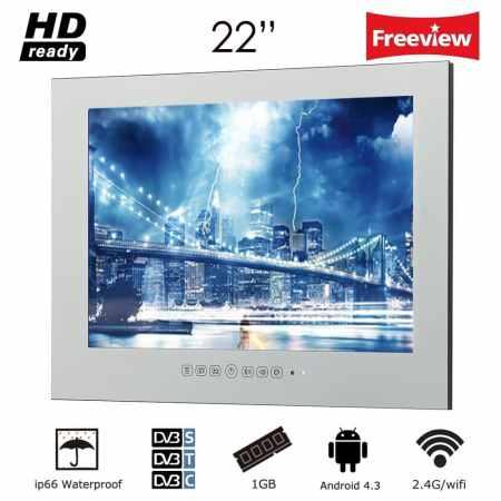 Soulaca 22 pulgadas sin marco Smart Mirror Mirror Magic TV M220FA