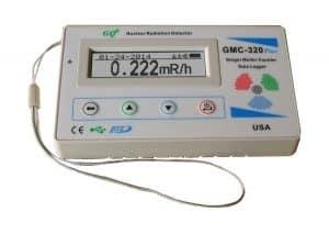 GQ GMC-320-Plus Detector de radiación nuclear Geiger Gamma Contador Beta Equipo de prueba de rayos X