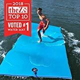 FloatDaddy Alfombra de baño de espuma de 3 capas para Super Island Lake | 6 x 16 | Cian / azul