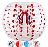 Balones de fútbol de bola de hámster humano de 5 pies, balón de fútbol, bola de parachoques, bola de zorbing, bola de golpeador, bola de lanzamiento de bola antiestrés Smash Ball ( punto rojo)