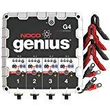 Cargador y mantenedor de batería 4 bancos NOCO Genius G4 6V / 12V 4.4 A