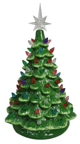ReLIVE Christmas es un árbol de mesa de cerámica iluminado para siempre