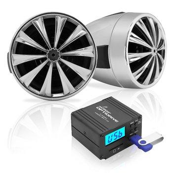 6. Lanzar sistema de altavoz y amplificador de motocicleta, 700 vatios, resistente a la intemperie