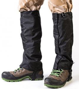 Sobike Resistente al aire libre Senderismo Polainas para piernas Impermeable Durable Leggings de alta nieve Calzado Botas Cubierta Deportes de montaña