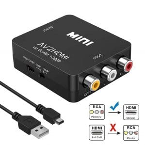 RCA a HDMI, AV a HDMI