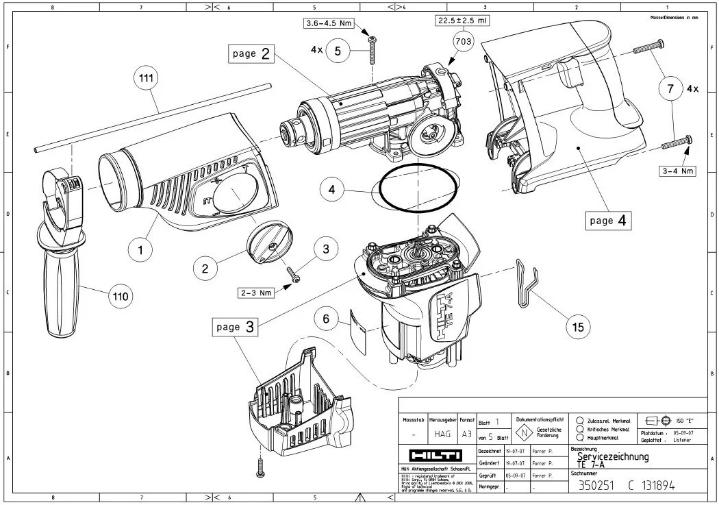 Hilti Parts Breakdown. Wiring. Wiring Diagram Images