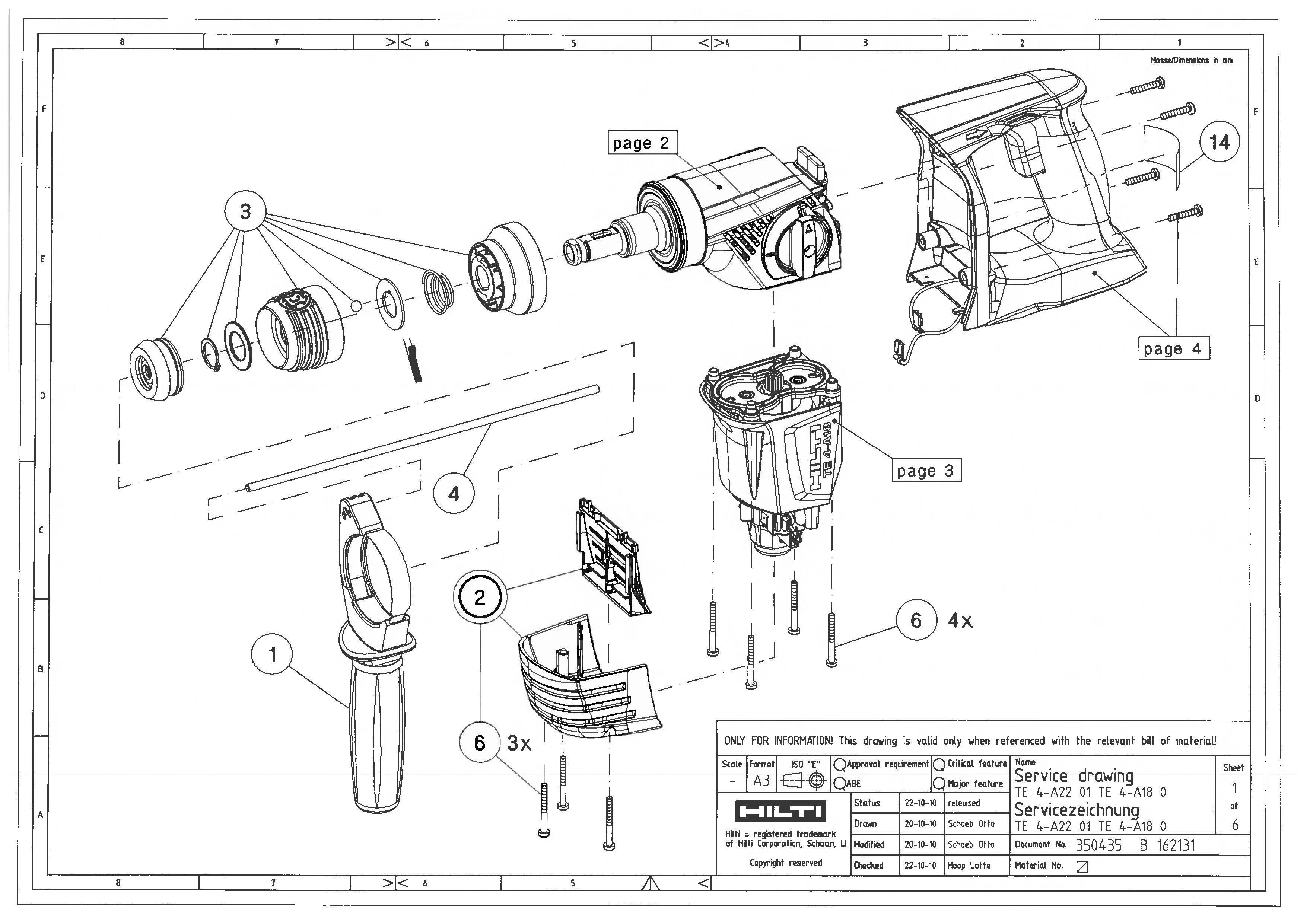 Hilti Te 54 Repair Manual