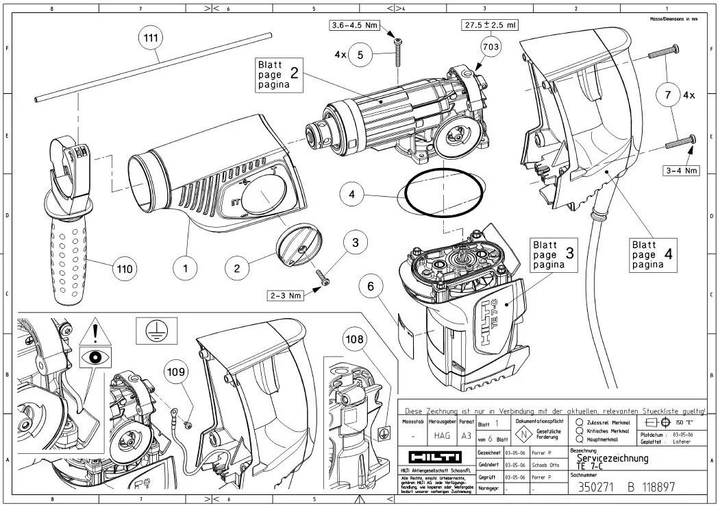 Hilti Te 54 Repair Manual