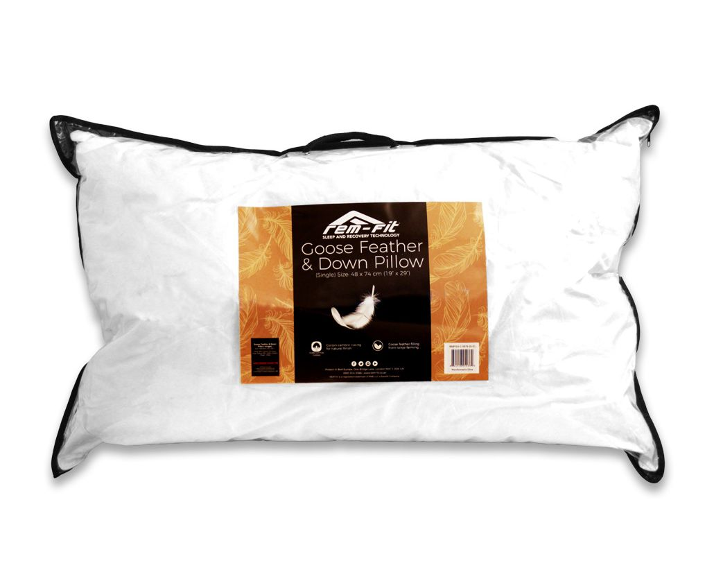 rem fit goose feather down pillow